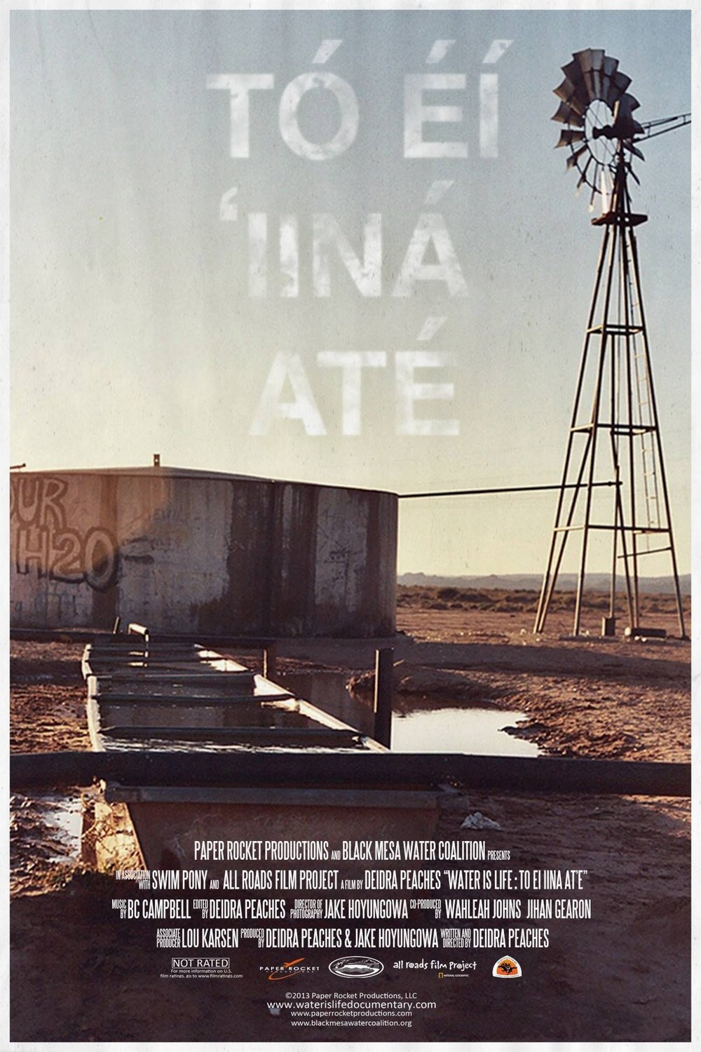 Tó éí ííná át'e: Water Is Life - 90 mins | Directed by: Deidra Peaches & Jake Hoyungowa | Music Composed by: BC CampbellShort SummaryTó éí ííná át'é (Water is Life) is a film illustrating environmental and social issues impacting indigenous nations in the Southwest of the United States. Two filmmakers (Peaches and Hoyungowa) guide us through the history of industry and the indigenous perspective often overlooked by mainstream media.