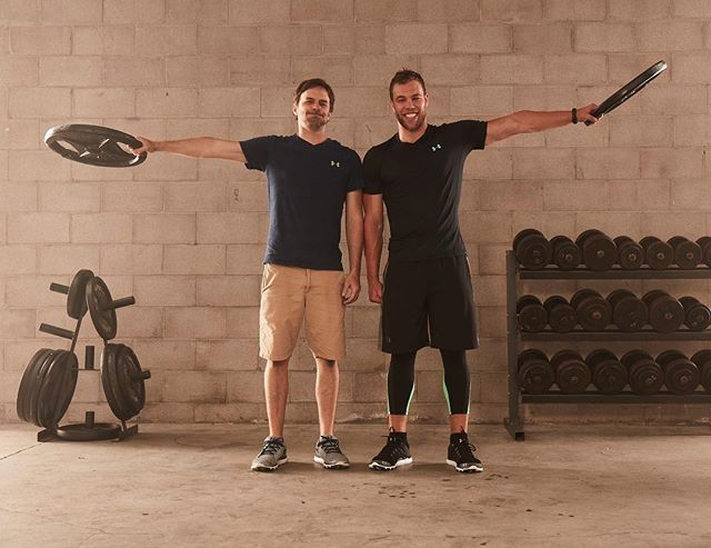 One of us went on to win the #NHL #MVP .  The other needs another leg day at the gym. #ChickenLegs  #UAHockey