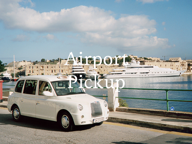 Airport transfer between Malta International Airport and Locanda La Gelsomina