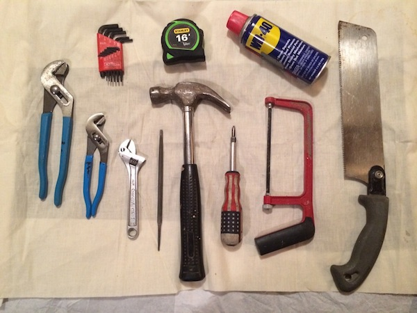 "HM's ""Still Life with Tools.""  ·  © H. Maniac"