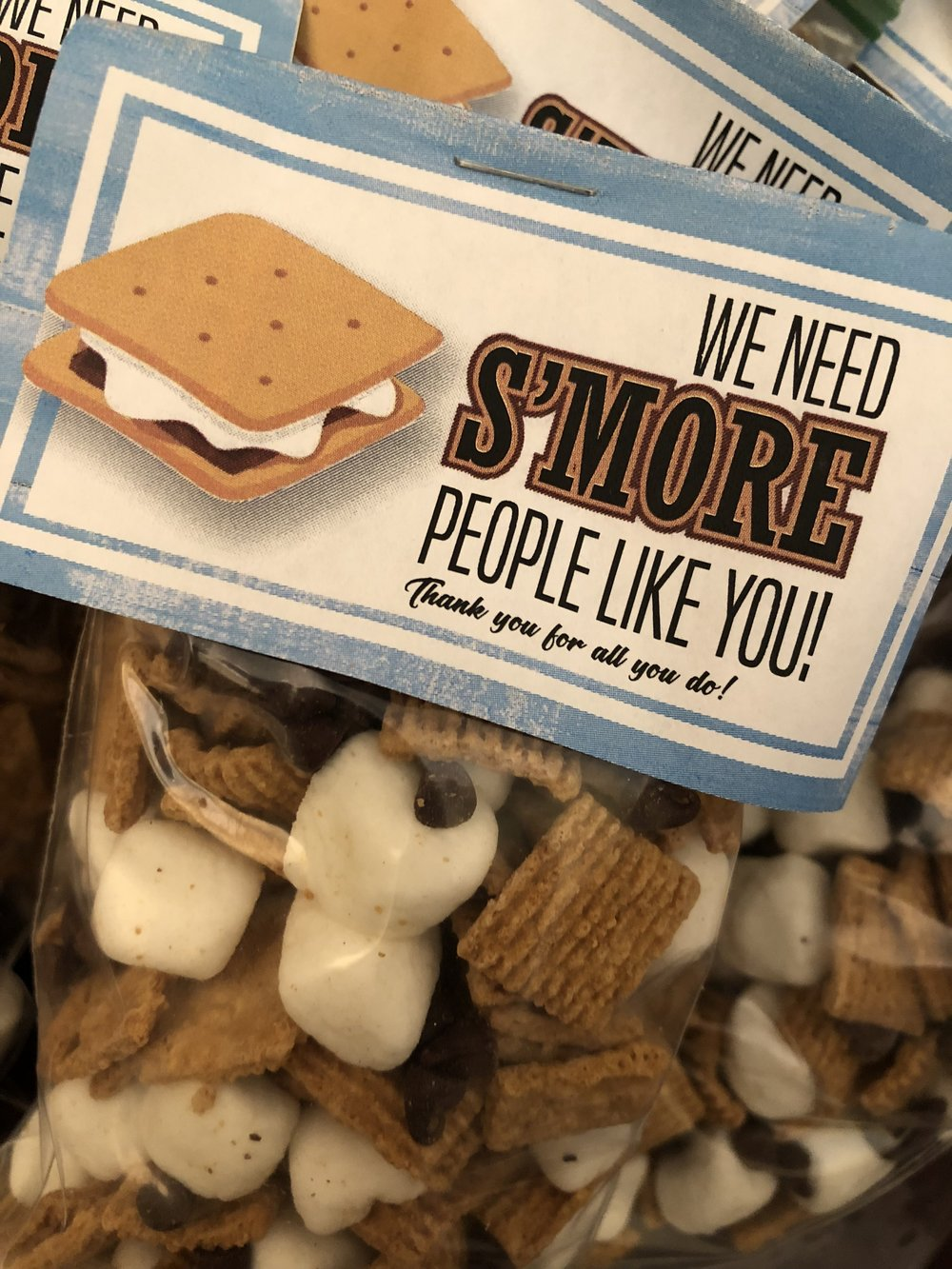 S'more Day Employee Appreciation Day S'Mores treat bags
