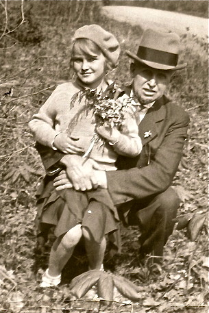 Betty (Hanley) McGinn & Mick Hanley - Fall 1937 - Baraboo, Wisconsin