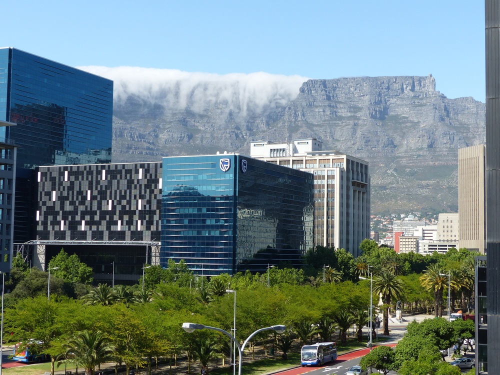 View of Table Mountain from the conference centre