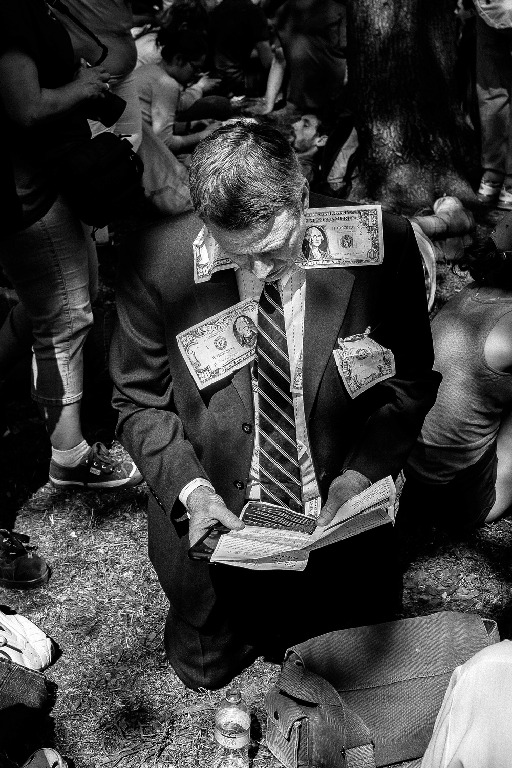 Occupy Wall Street protester, Manhattan NY