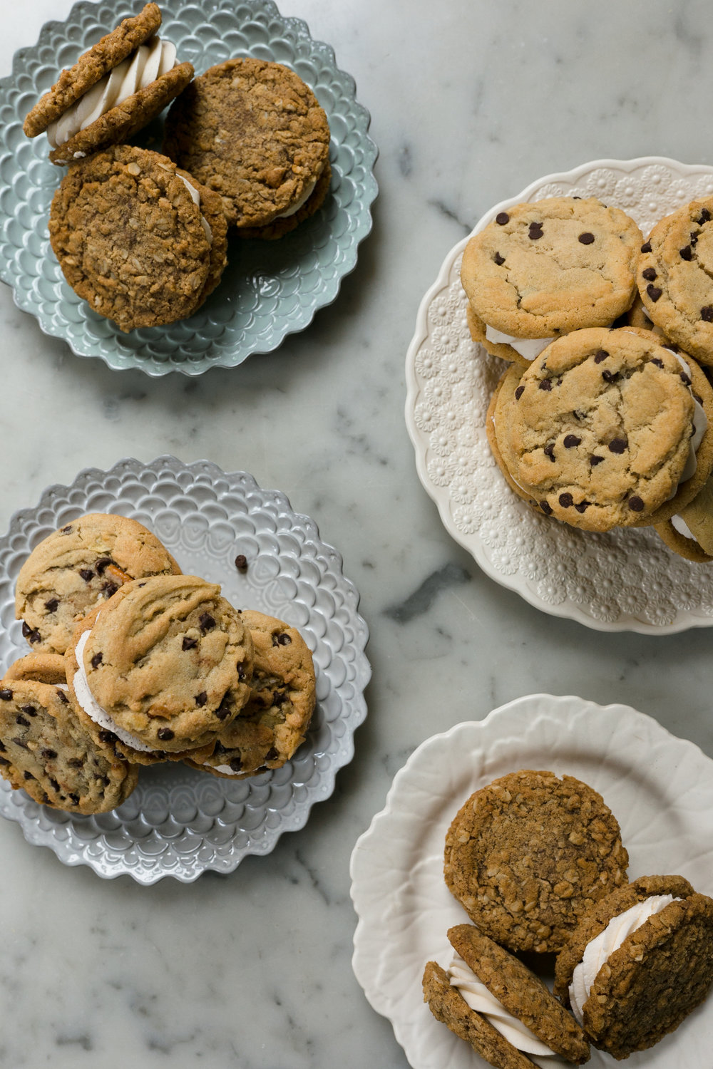 Cookie sandwiches, $36/dozen   Chipwich, oatmeal cream pies or our seasonal cookie sandwich.