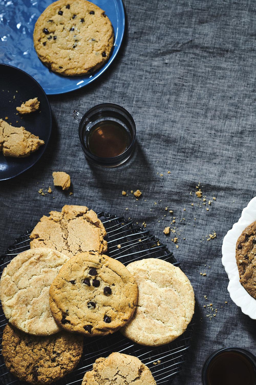 Jumbo sized cookies, $24/dozen   Flavor options are chocolate chip, oatmeal raisin, peanut butter and select seasonal varieties.