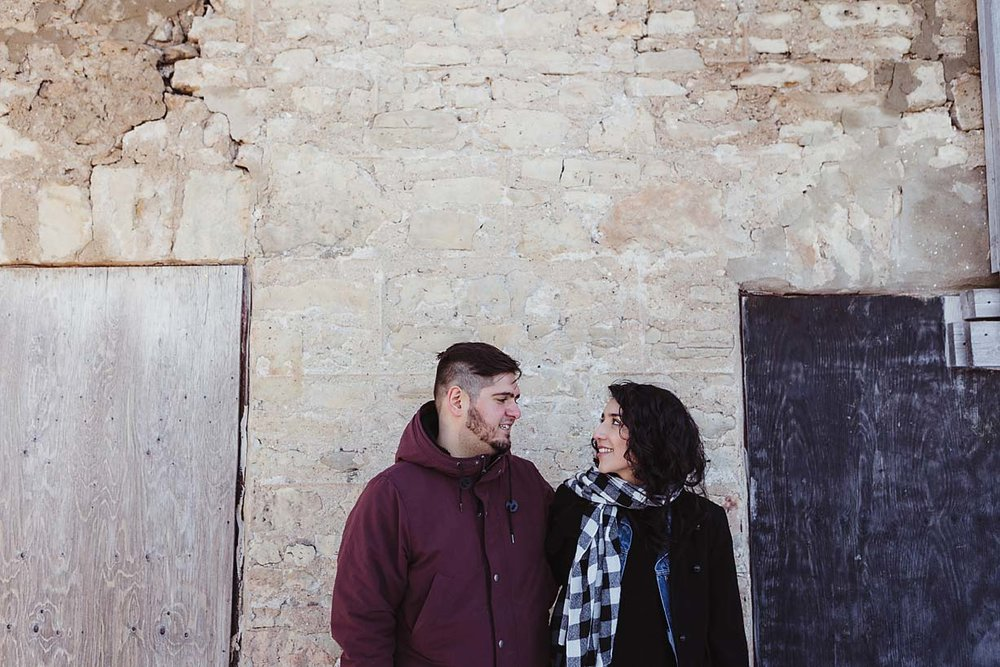 winter engagement photography documentary photographer copperred