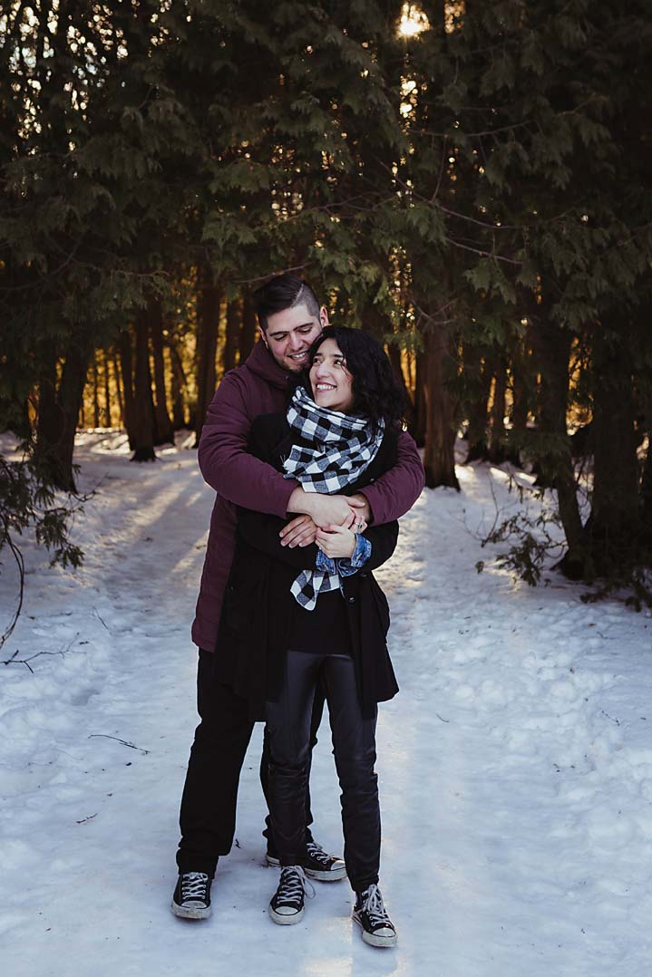 winter engagement photography elora gorge documentary photographer copperred