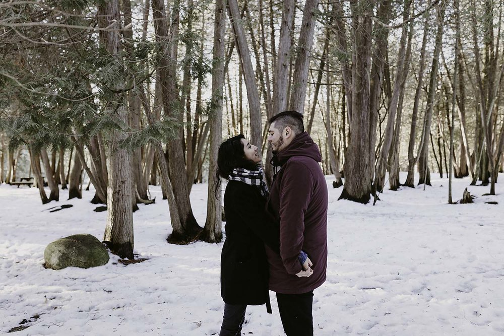 Winter Engagement Photography at Elora Gorge | Documentary Photographer CopperRed