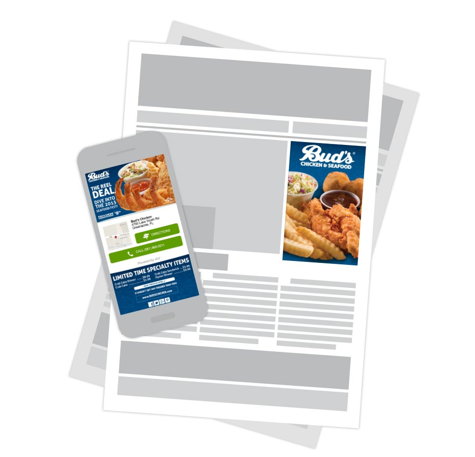 Bud's Chicken & Seafood - mobile and digital ads - The Reel Deal
