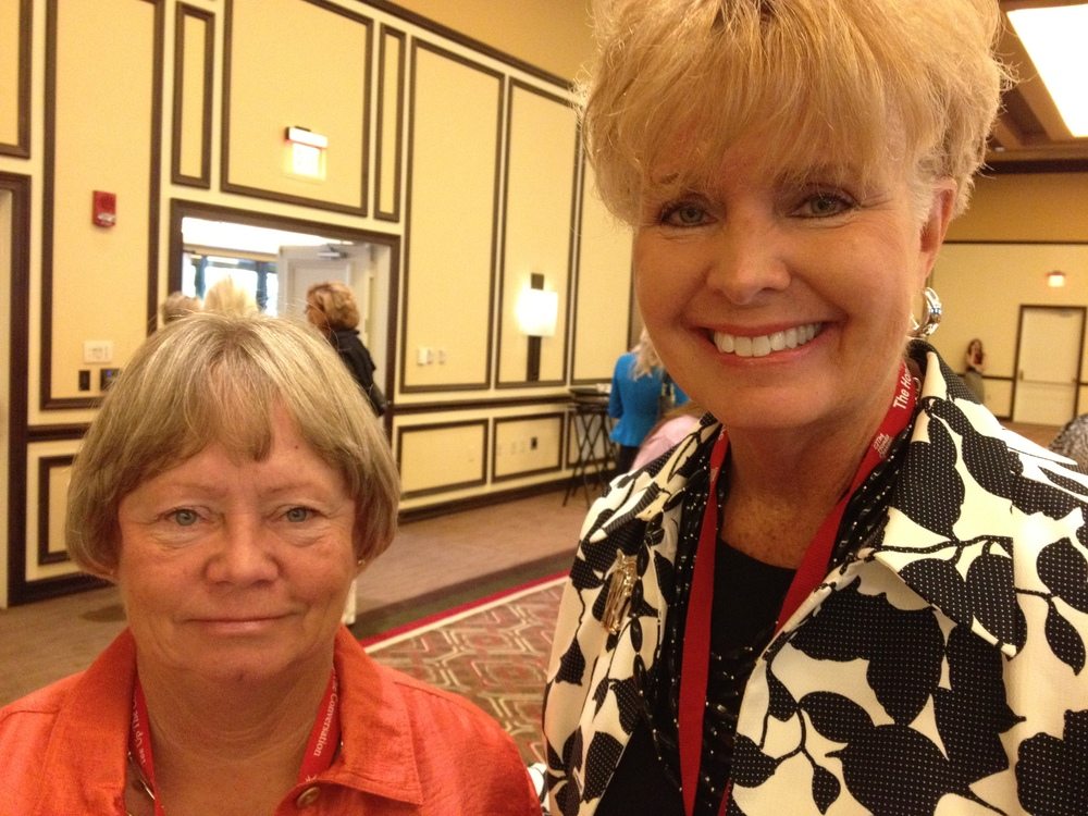 Becky Macaluso (left) and Pam Swensen