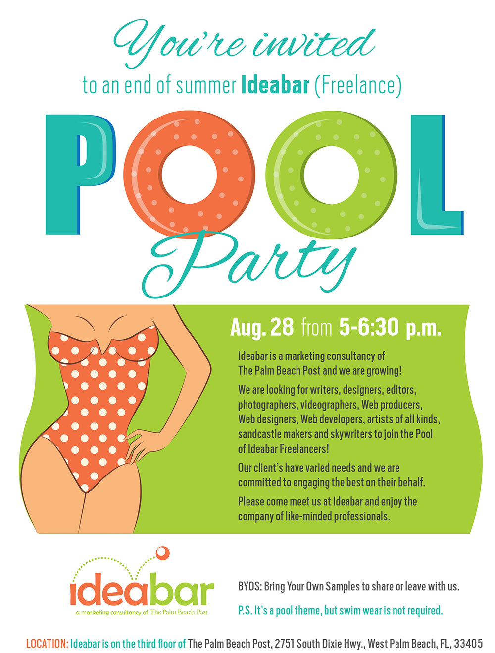 Ideabar Pool Party Invite