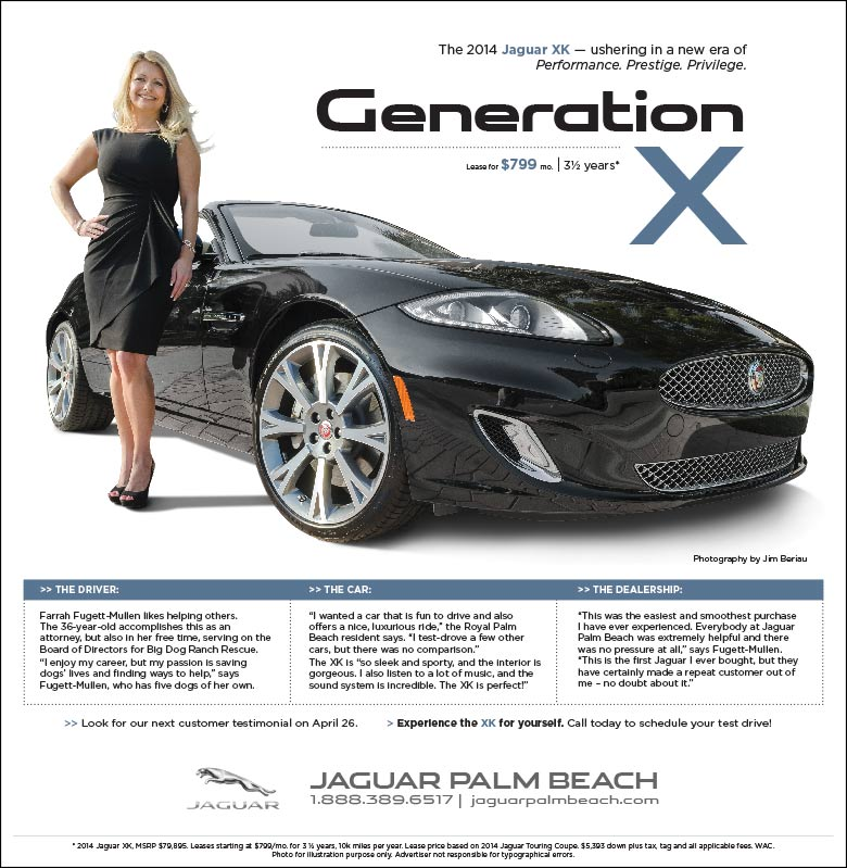 Jaguar Palm Beach - Generation X advertorial campaign