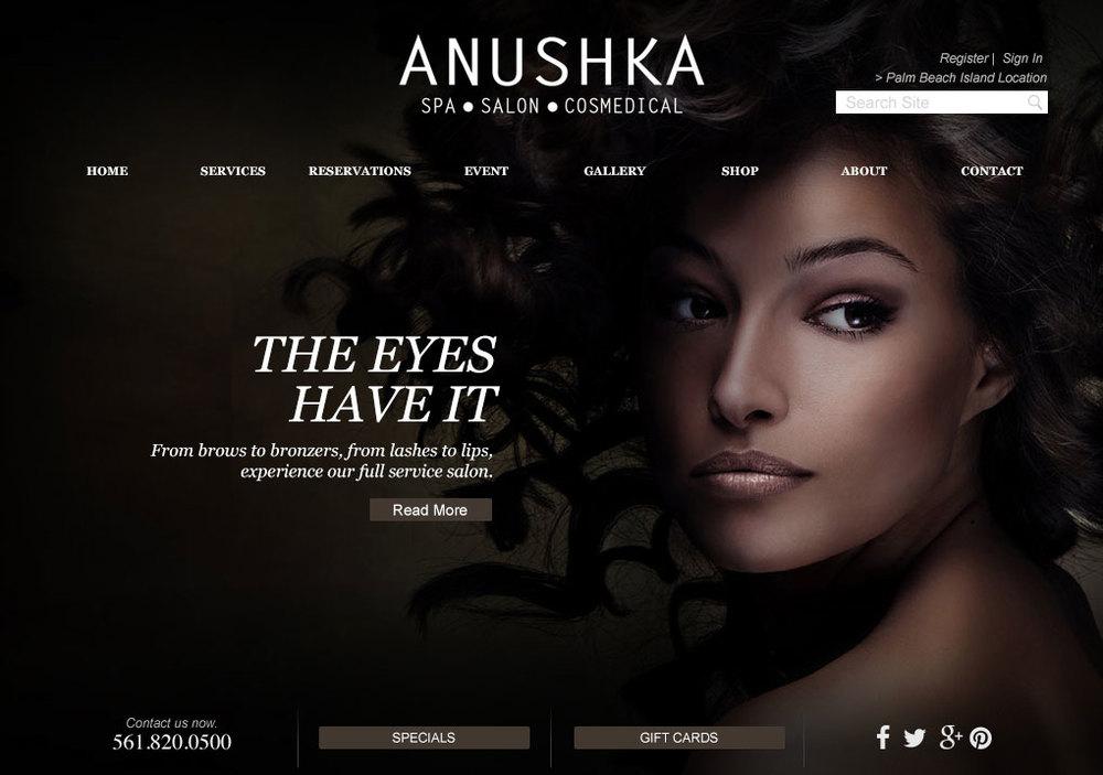 Anushka - web design