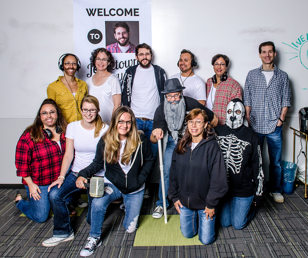 the ideabar team all dressed up as Jorge! photo by Jim Beriau/ideabar