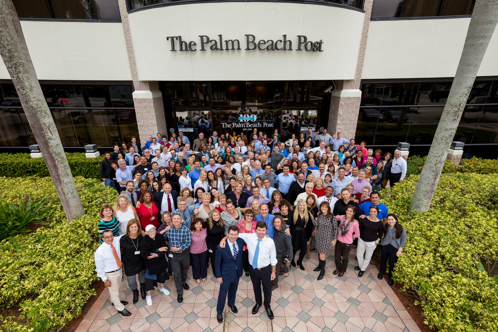 "The staff of The Palm Beach Post, Palm Beach Daily News and Ideabar says, ""Cheese."" (Photo by Richard Graulich/The Palm Beach Post)"
