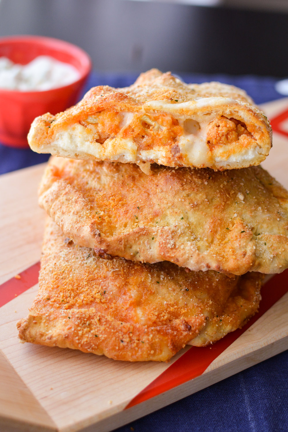 Buffalo Cauliflower Calzones