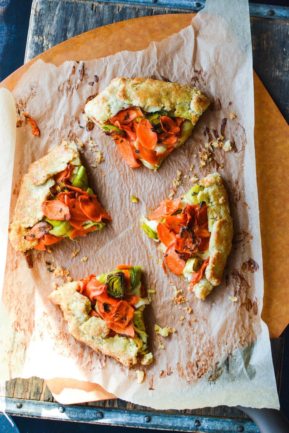Carrot Galette with Fontal Cheese and Fennel Crust