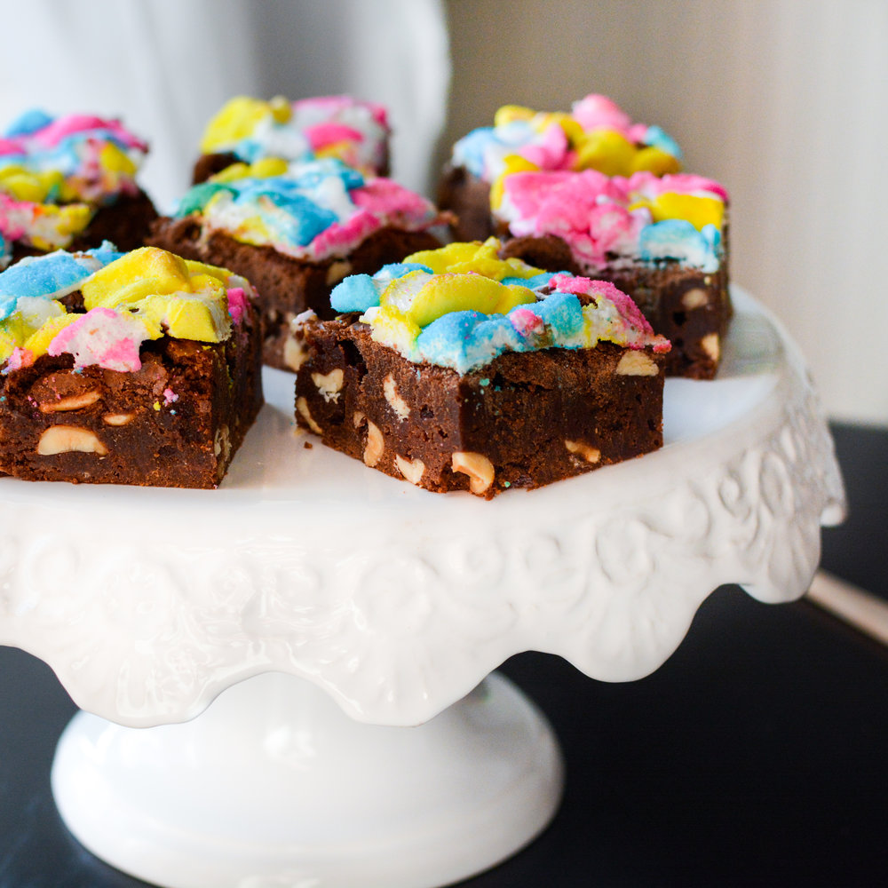Rocky Road Peep Brownies
