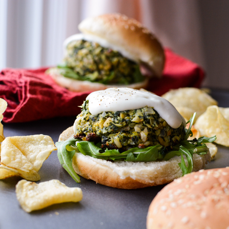 Cream Cheese Stuffed Spinach Artichoke Dip Burgers