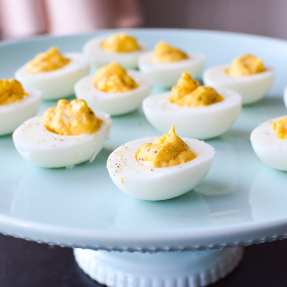 Maple Horseradish Deviled Eggs