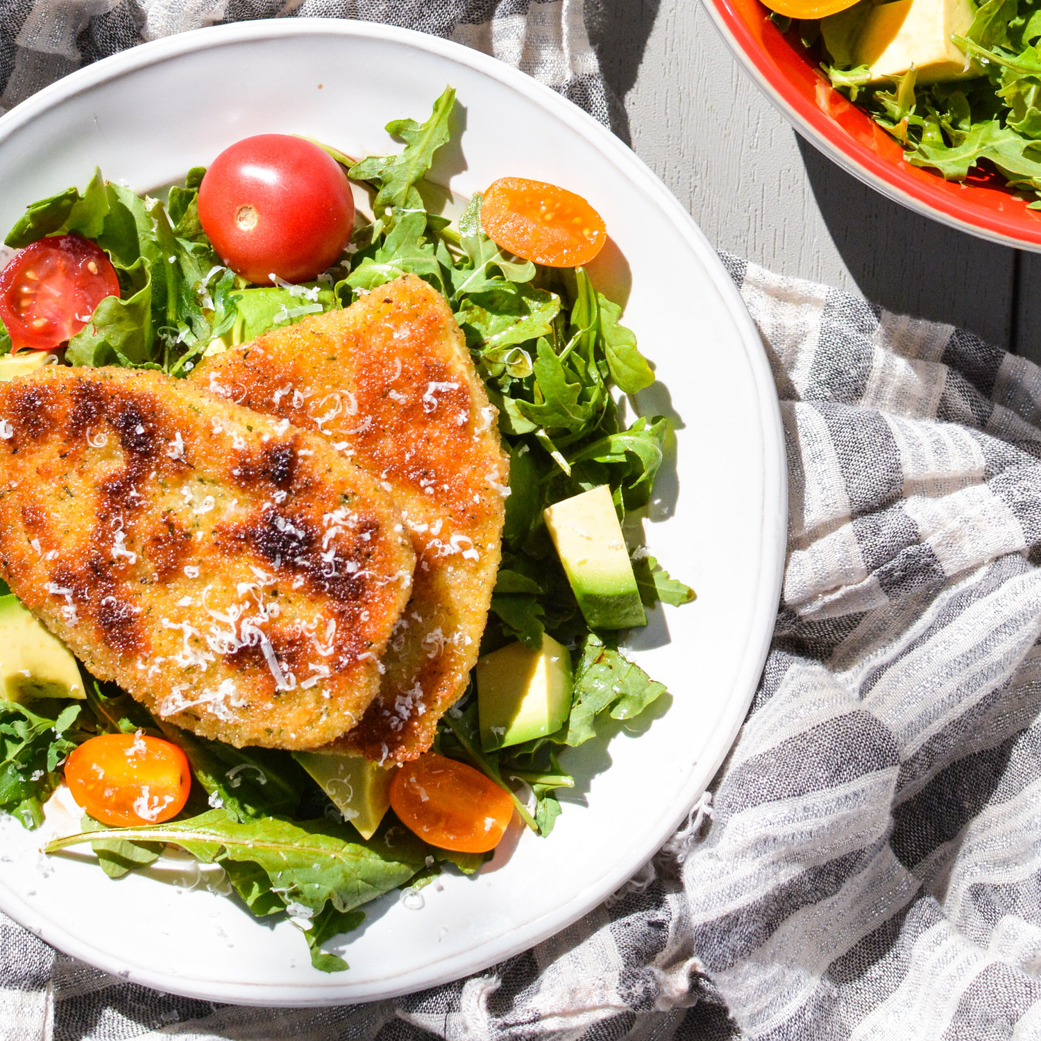 Fried Sweet Potato Cutlets with Arugula Salad