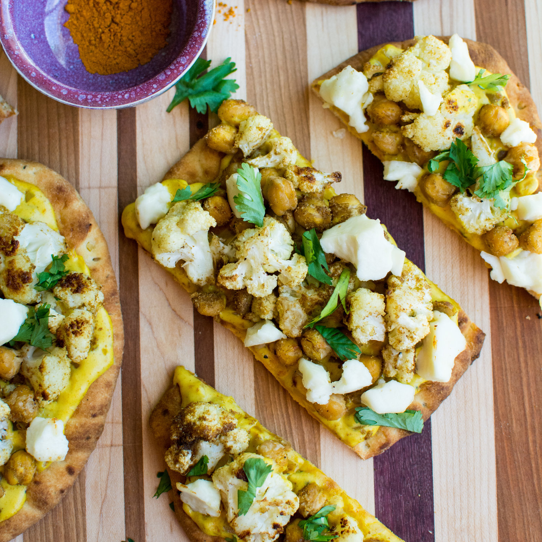 Cauliflower Curry Naan Flatbread