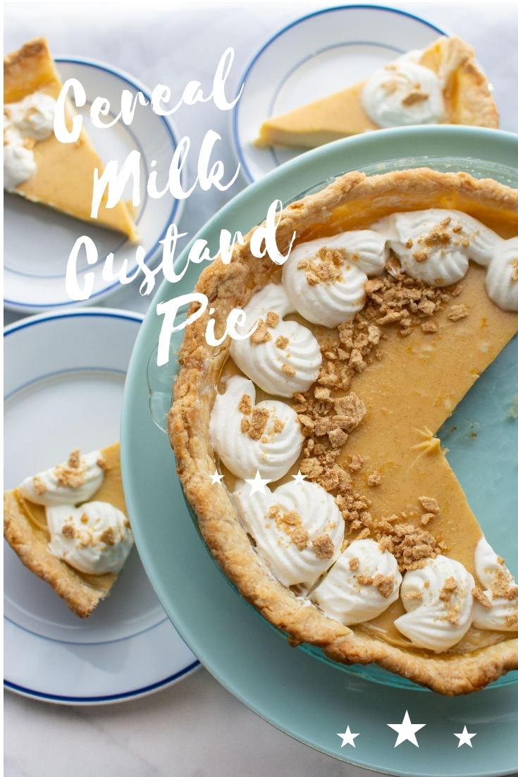 Cereal Milk Custard Pie