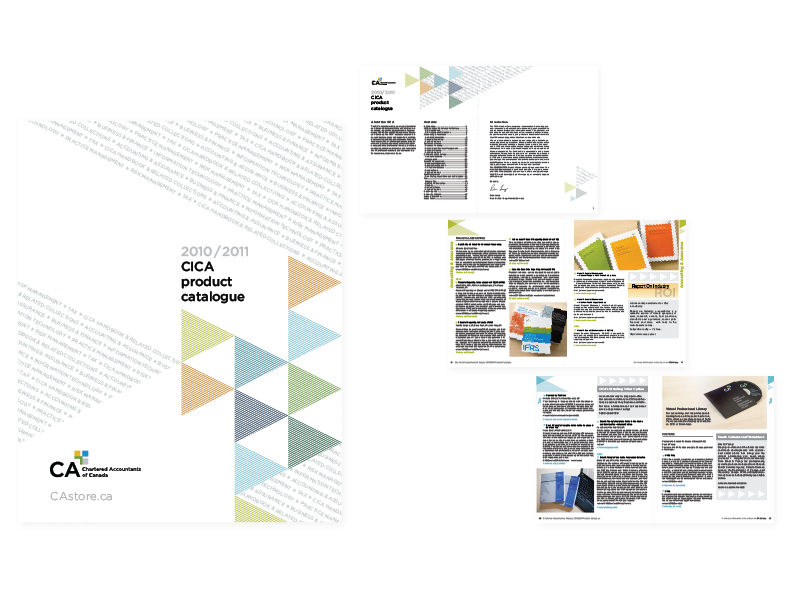 """CICA 2010/2011 Product Catalogue  8"""" x 10"""" saddle-stitched book[cover and selected interior spreads] —graphics/photographic art direction/layout  ( view the entire document here )"""