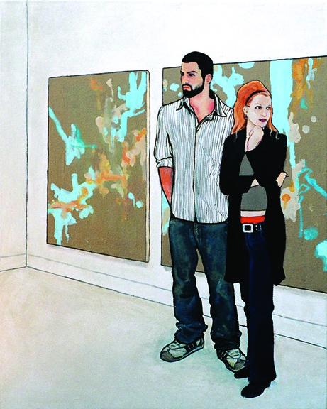 "Gallery  16x20"" acrylic on canvas"
