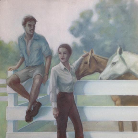"""Horses  20""""x20""""oil on canvas"""