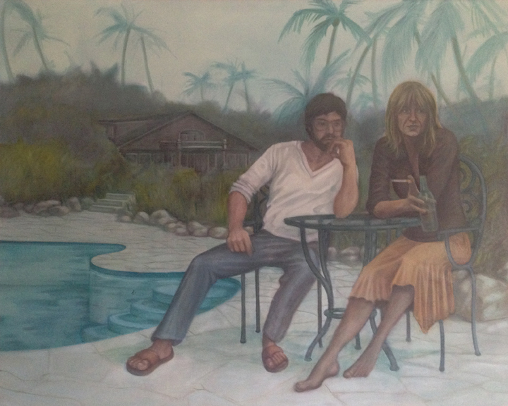"Poolside  60""x48"" oil on canvas"