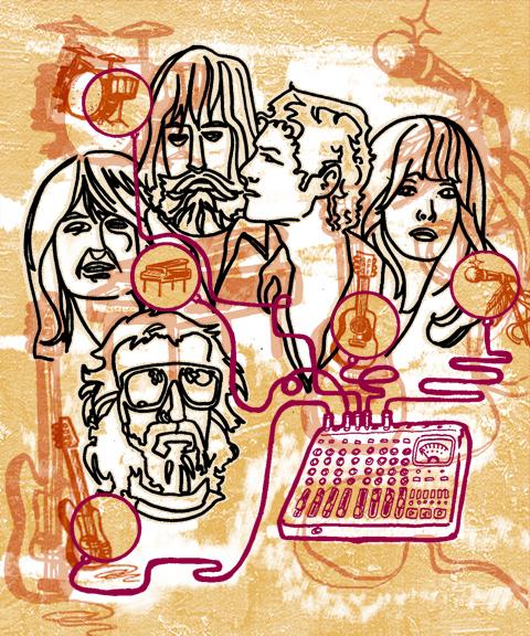 Fleetwood Mac  hand-rendered/digital composite