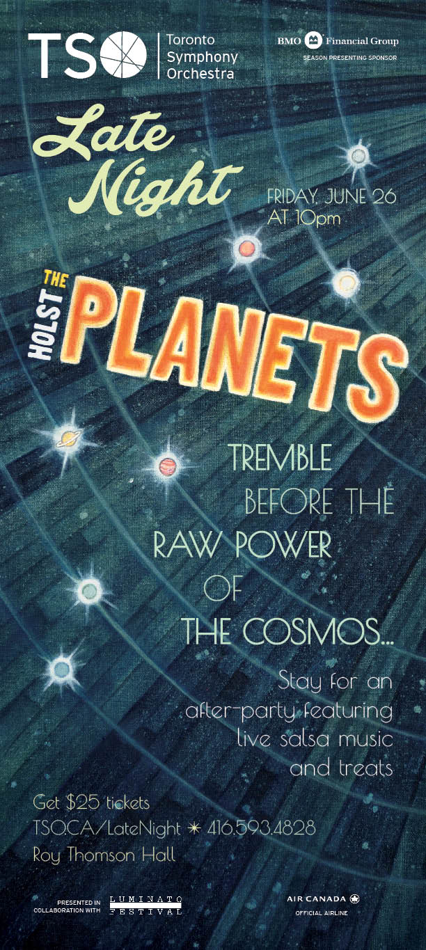 Toronto Symphony Orchestra 'The Planets' illustration and poster