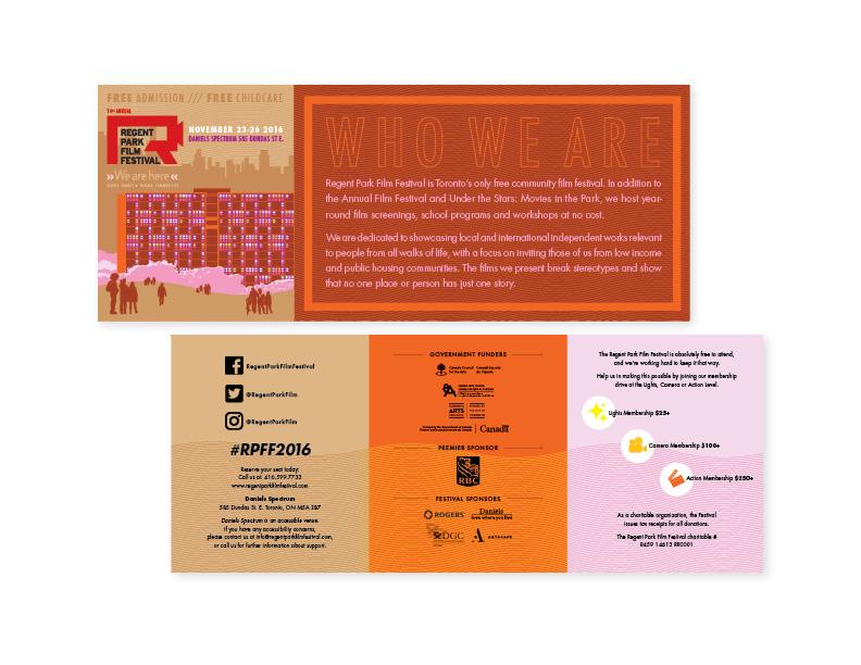 14th Annual Regent Park Film Festival flyer (exterior)