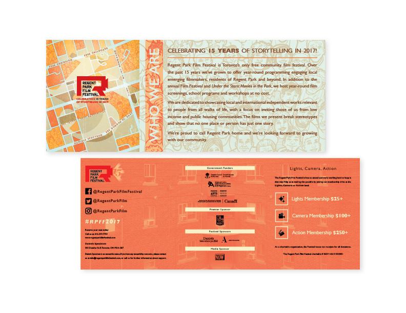 15th Annual Regent Park Film Festival flyer (exterior)