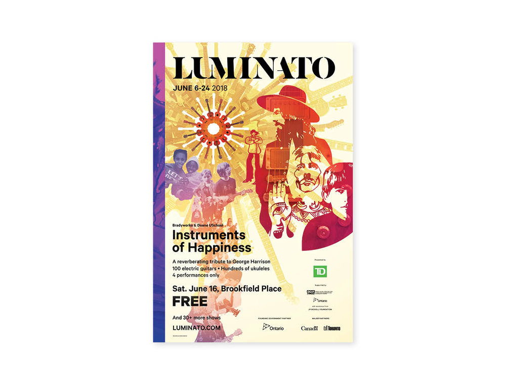Luminato 2018 Poster — Instruments of Happiness