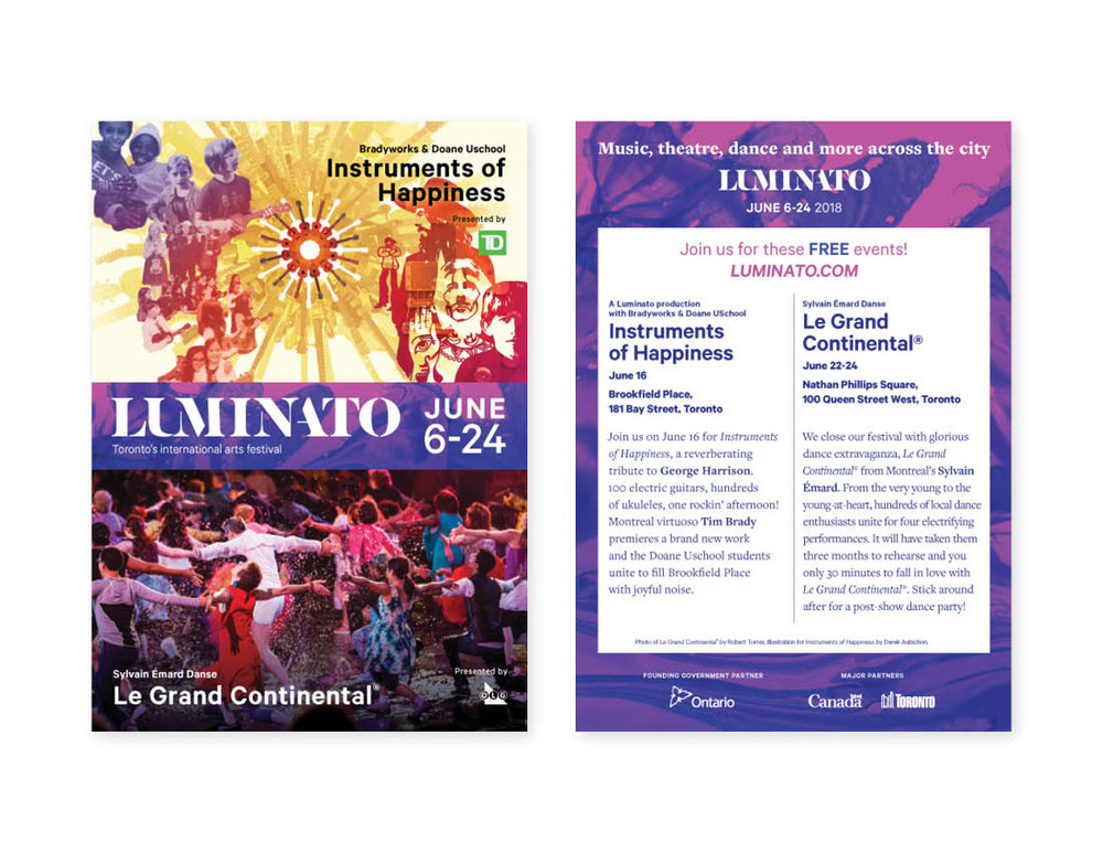 Luminato 2018 — postcard