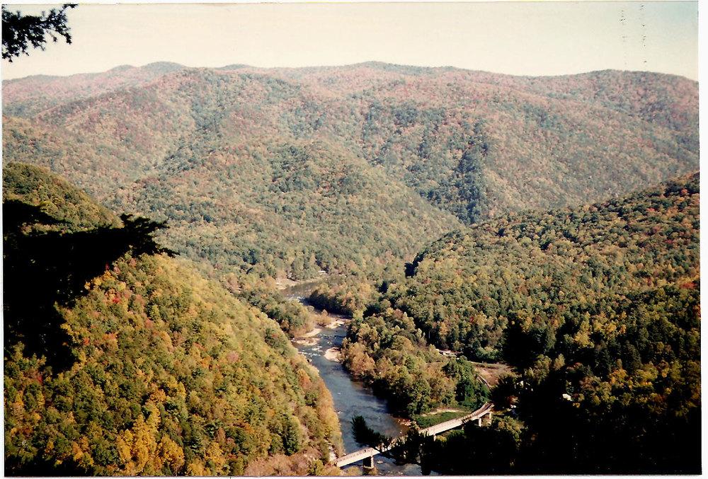 Nolichucky Gorge Aerial View