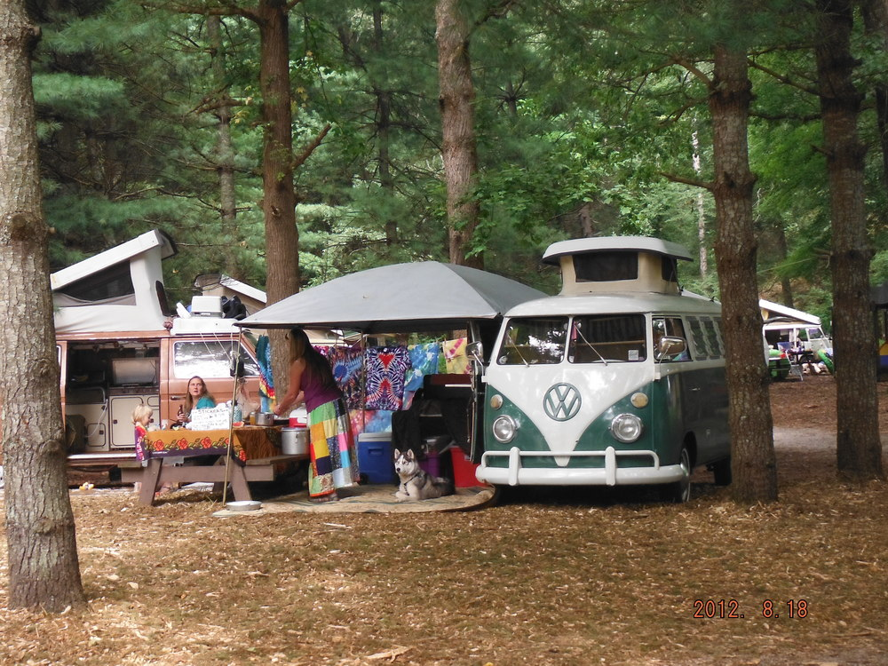 VW vans everywhere