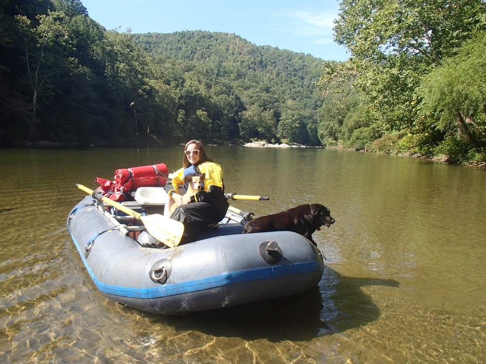 Rafting with our dogs