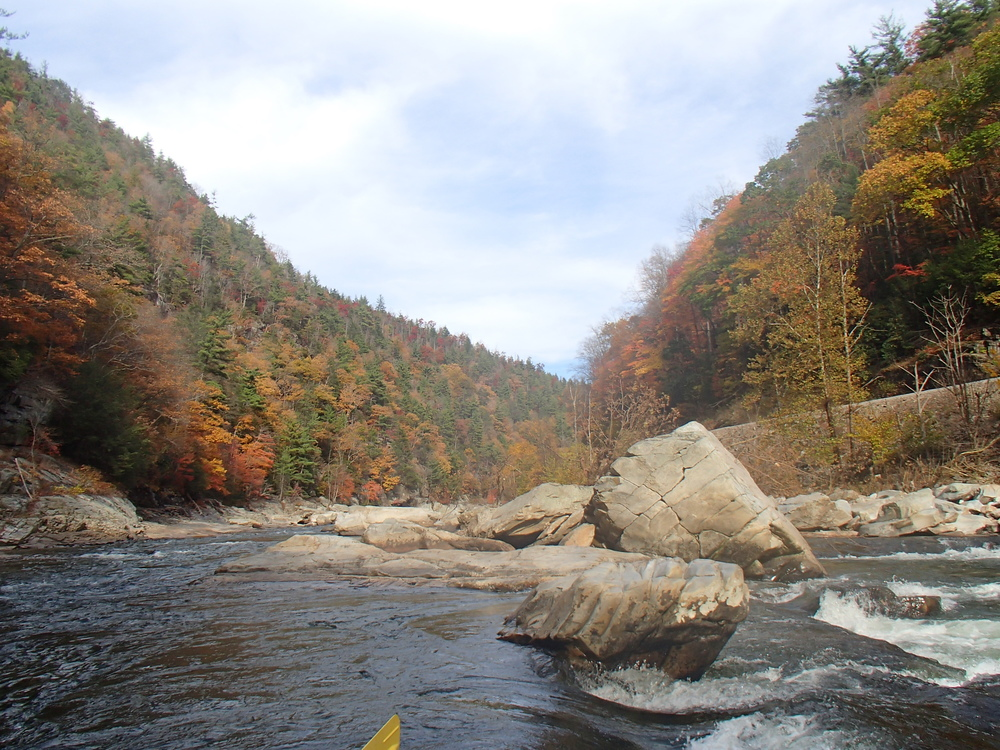 Rafting down the Nolichucky River