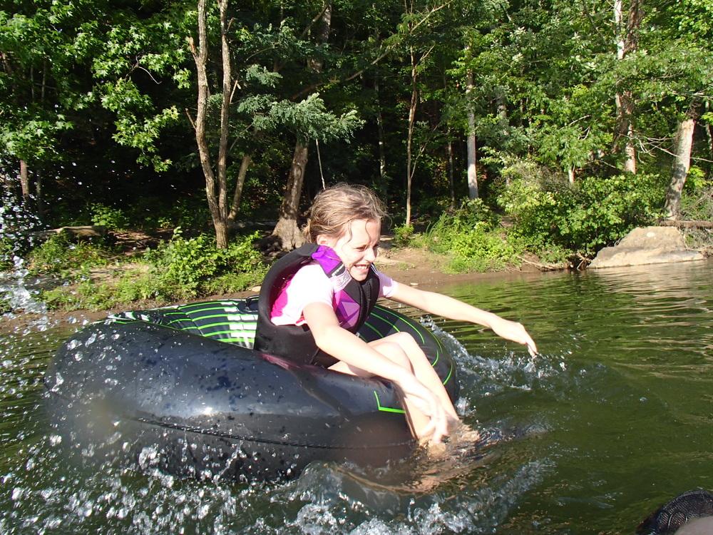 Kids love tubing