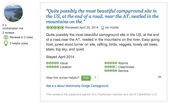 Trip Advisor - Guest Review