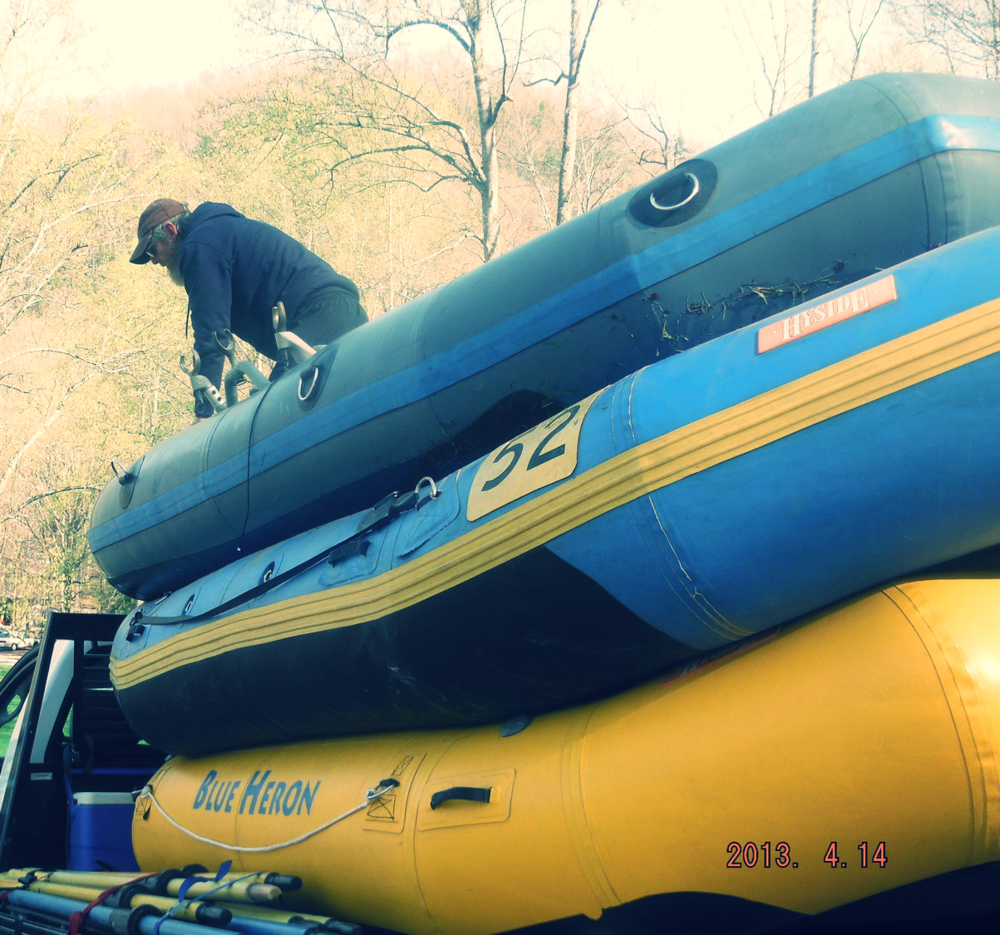 Watch out - rafts coming through! (Our friends from  Blue Heron  came to paddle the Noli Gorge last spring)