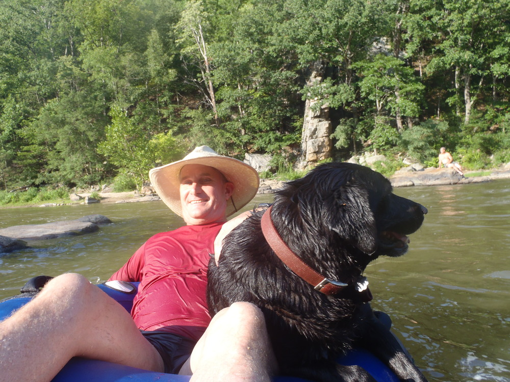 Rick tubing with Smoky