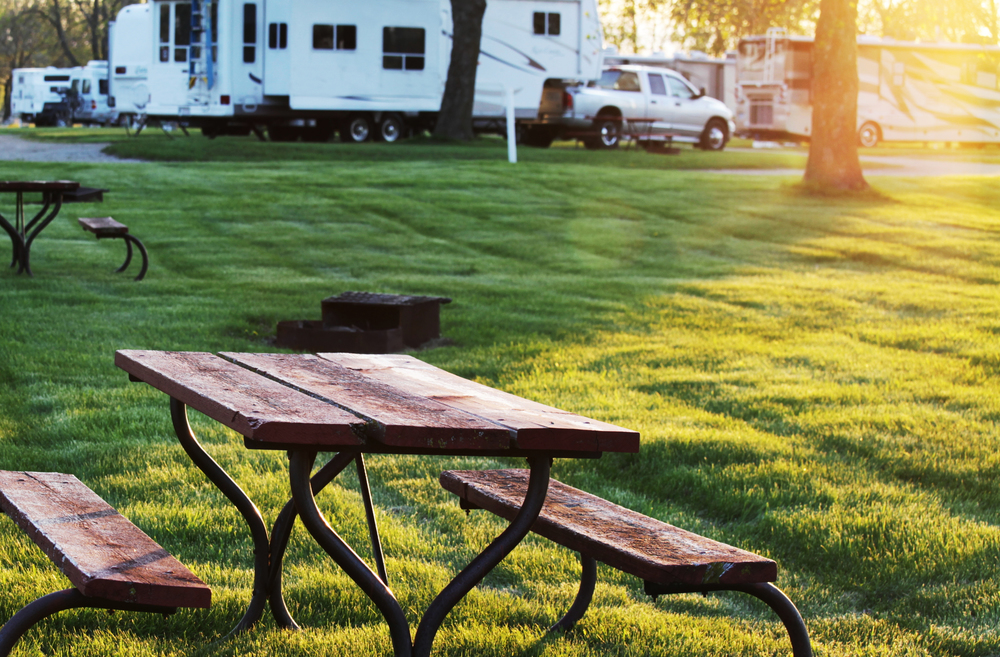 RV Camping and Picnic Tables
