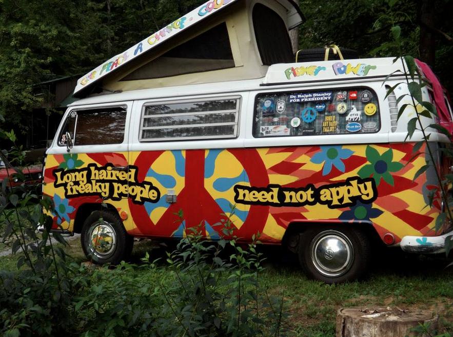 Groovy VW camper van