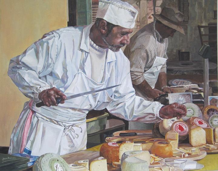 'The Italian Cheese Maker' Acrylic
