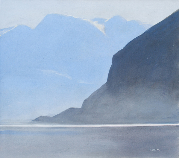 Entering the Fjord acrylic on canvas